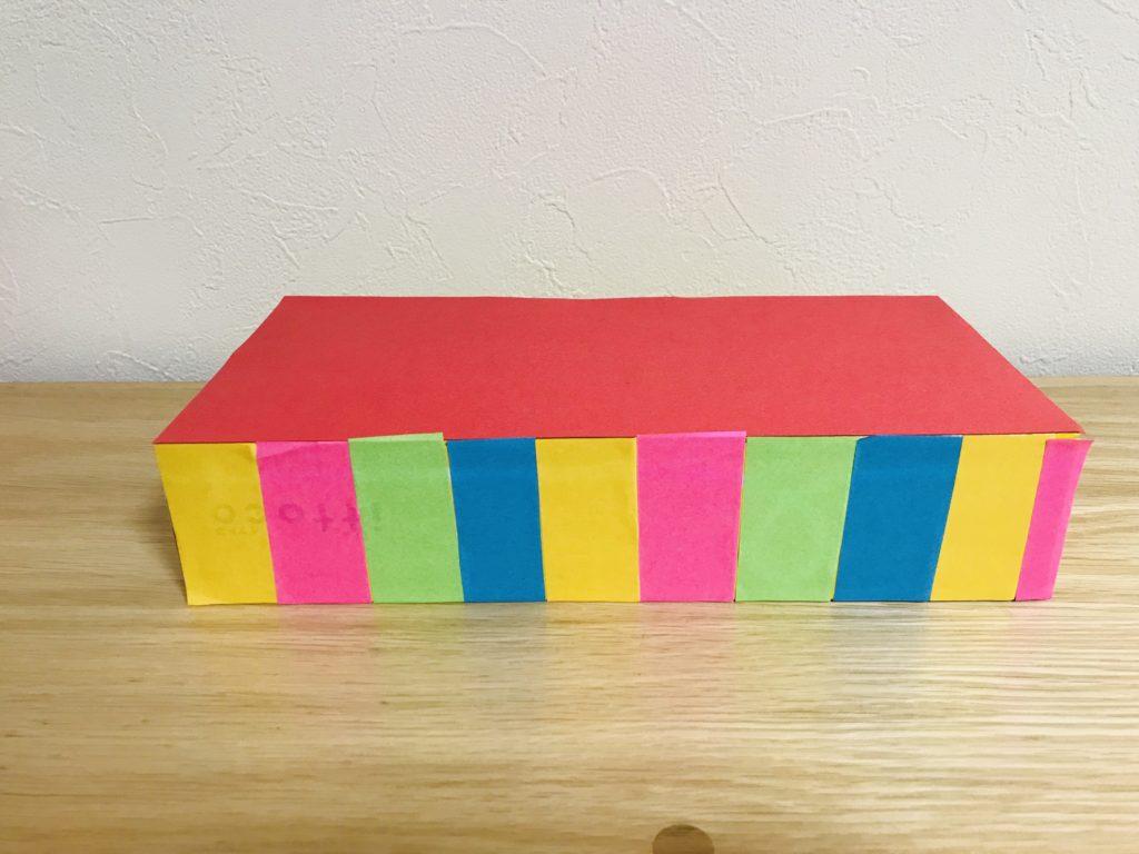 ティッシュ箱で台座・ひな人形製作